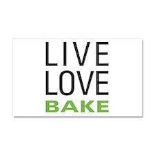 Live Love Bake Car Magnet 20 x 12