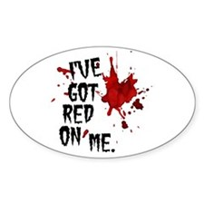 Red on Me Decal