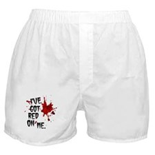 Red on Me Boxer Shorts