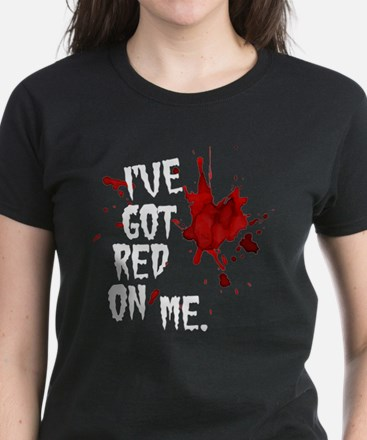 Red on Me Women's Dark T-Shirt