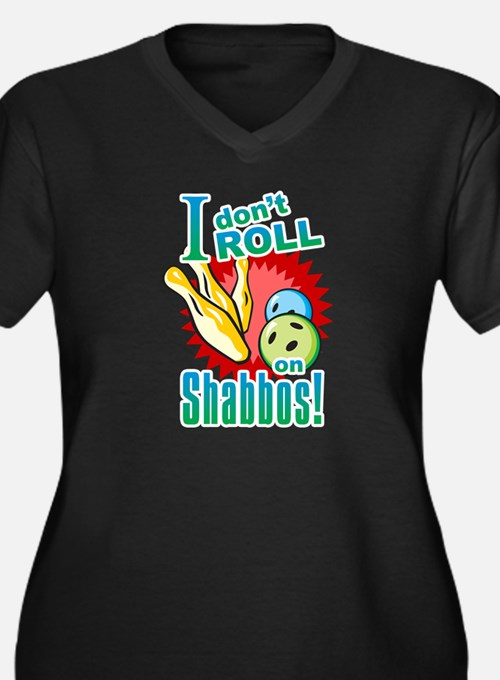 I Don't Roll on Shabbos Women's Plus Size V-Neck D