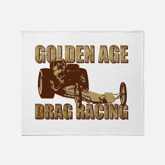 Vintage Slingshot Dragster th Throw Blanket