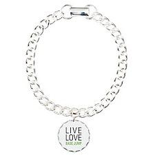 Live Love BASE Jump Charm Bracelet, One Charm