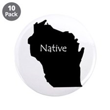 "Wisconsin Native 3.5"" Button (10 pack)"