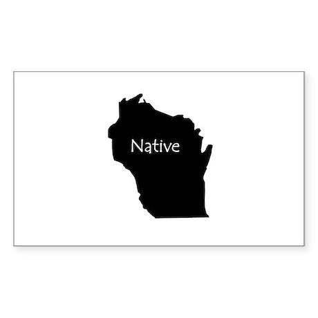 Wisconsin Native Sticker (Rectangle)