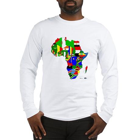 Africa FlagMap Long Sleeve T-Shirt