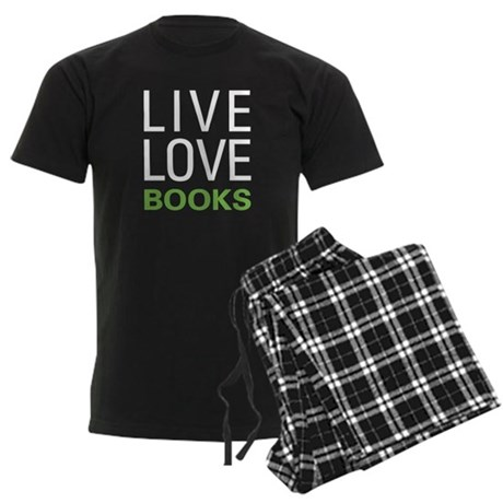 Live Love Books Men's Dark Pajamas
