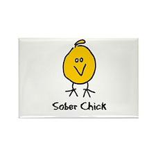 Sober Chick Rectangle Magnet