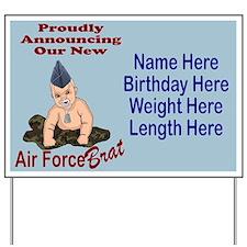 Air Force Brat Blue Customizable Yard Sign