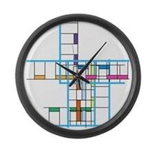 Mondrianopoly Large Wall Clock