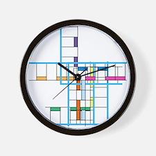 Mondrianopoly Wall Clock