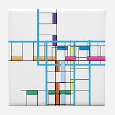 Mondrianopoly Tile Coaster