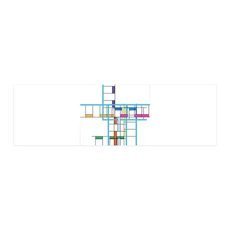 Mondrianopoly 42x14 Wall Peel