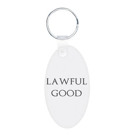 Lawful Good Aluminum Oval Keychain
