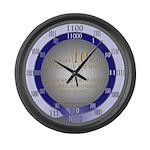 24-hr-binary (w/paradox) Large Wall Clock