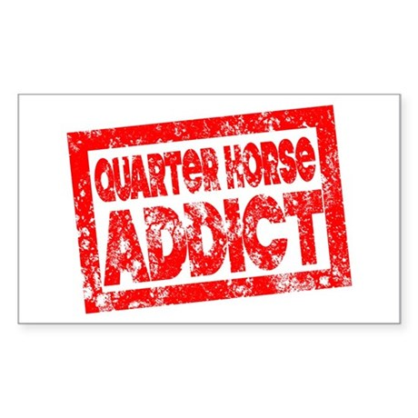 Quarter Horse ADDICT Sticker (Rectangle)