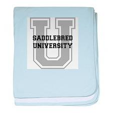 Saddlebred UNIVERSITY baby blanket