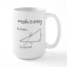 Math is Easy Joke Mug