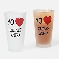 Yo amo quinceanera Drinking Glass
