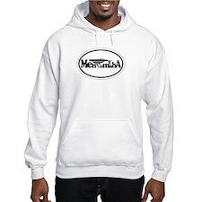 Menemsha MA - Oval Design. Hoodie