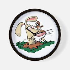 Kestrel and Rabbit Wall Clock