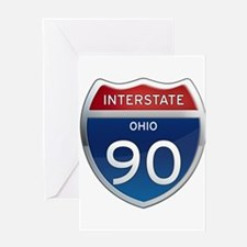 Interstate 90 - Ohio Greeting Card