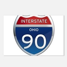 Interstate 90 - Ohio Postcards (Package of 8)