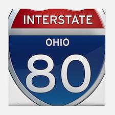 Interstate 80 - Ohio Tile Coaster