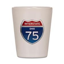 Interstate 75 - Ohio Shot Glass