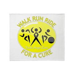 Sarcoma Cancer Walk Run Ride Throw Blanket