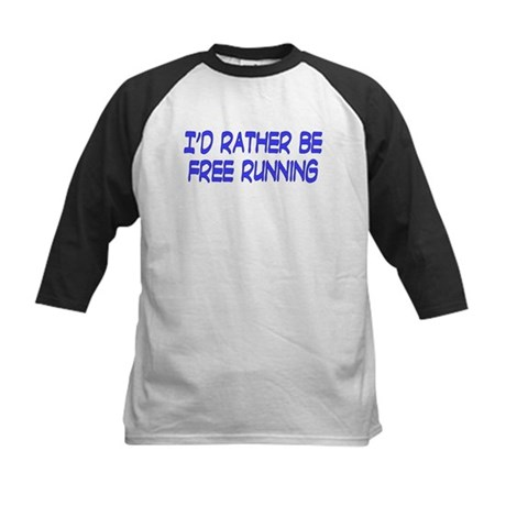 I'd rather be free running Kids Baseball Jersey