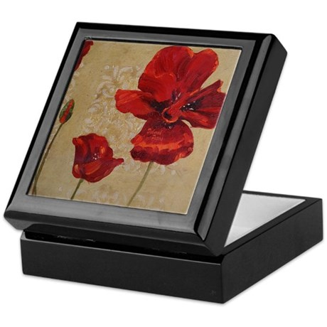 Red Poppy Art II Keepsake Box