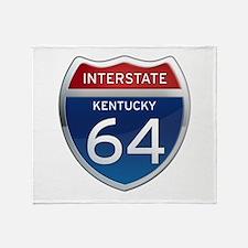 Interstate 64 - Kentucky Throw Blanket
