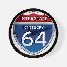 Interstate 64 - Kentucky Wall Clock