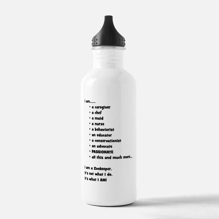 I am a Zookeeper Water Bottle