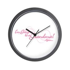 Going To Be A Grandma Again Wall Clock