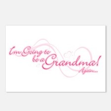 Going To Be A Grandma Again Postcards (Package of
