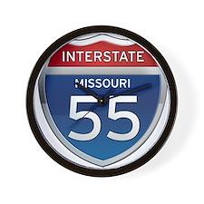 Interstate 55 - Missouri Wall Clock