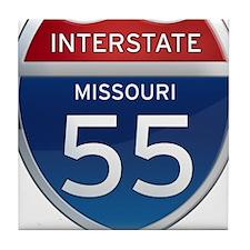 Interstate 55 - Missouri Tile Coaster
