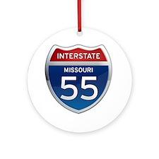 Interstate 55 - Missouri Ornament (Round)