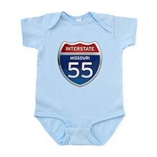 Interstate 55 - Missouri Infant Bodysuit