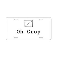 Oh Crop Aluminum License Plate