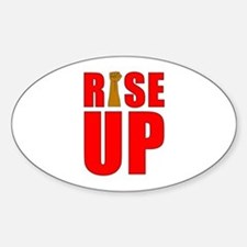 RiSE UP Oval Decal