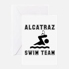 Alcatraz Swim Team Greeting Card