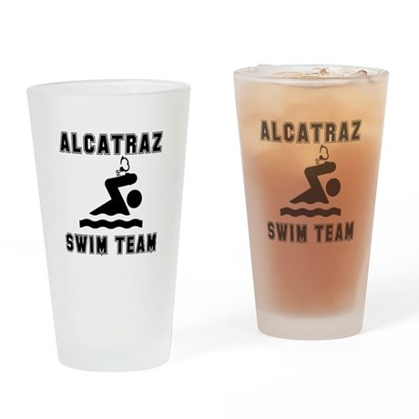Alcatraz Swim Team Drinking Glass