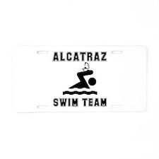 Alcatraz Swim Team Aluminum License Plate