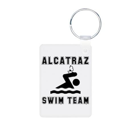 Alcatraz Swim Team Aluminum Photo Keychain