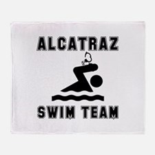 Alcatraz Swim Team Throw Blanket