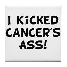 Kicked Cancer Tile Coaster
