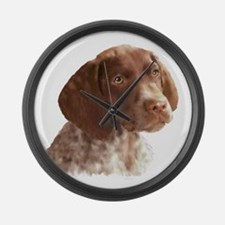 German Shorthair Puppy Large Wall Clock
